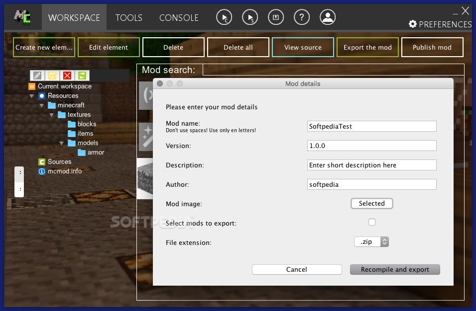 MCreator Mac 1 9 0 - Download