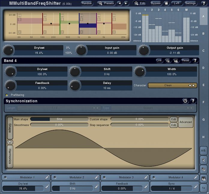 MMultiBandFreqShifter screenshot 1