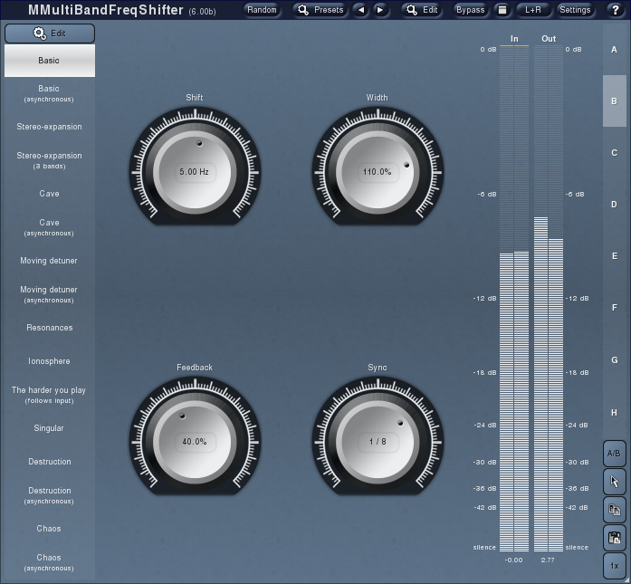 MMultiBandFreqShifter screenshot 2