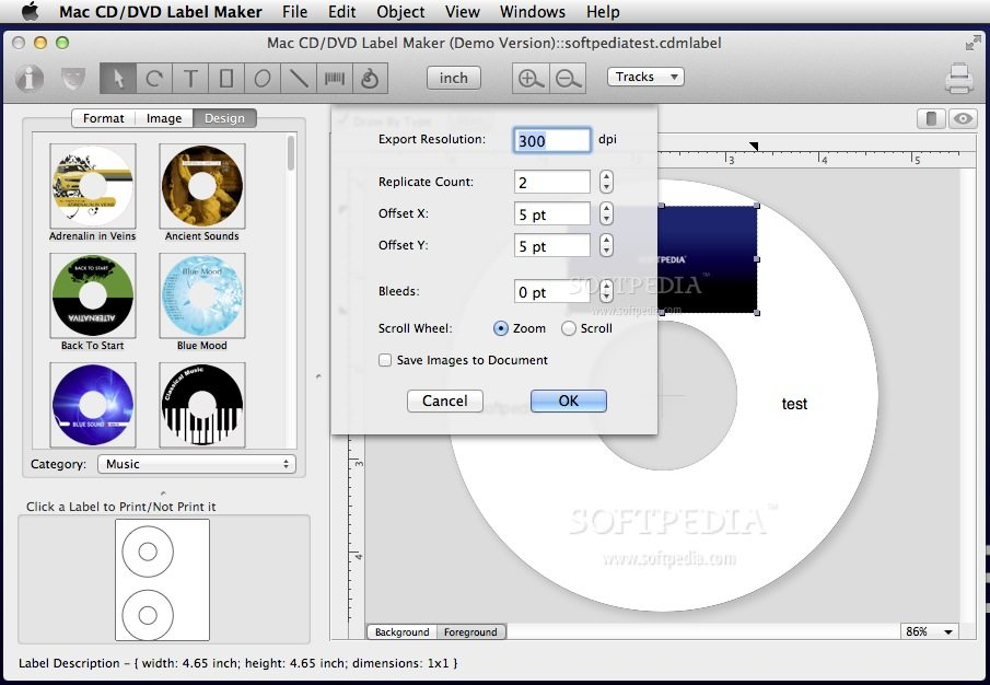 Mac CD/DVD Label Maker screenshot 4