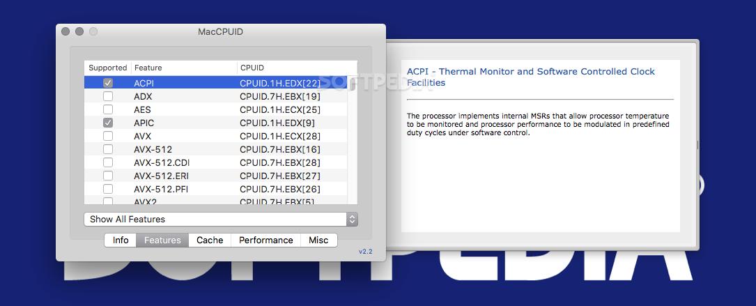 MacCPUID 3 1 - Download