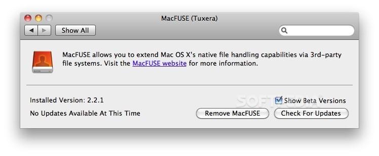 MacFUSE (Tuxera) 2 2 1 - Download