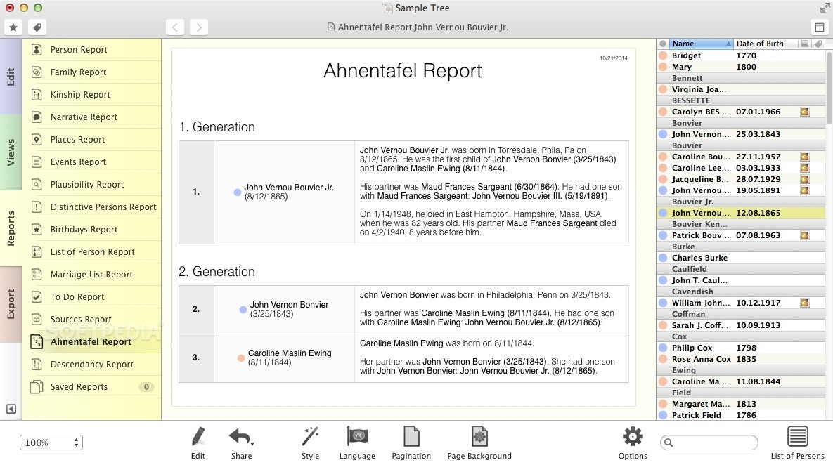 MacFamilyTree screenshot 16