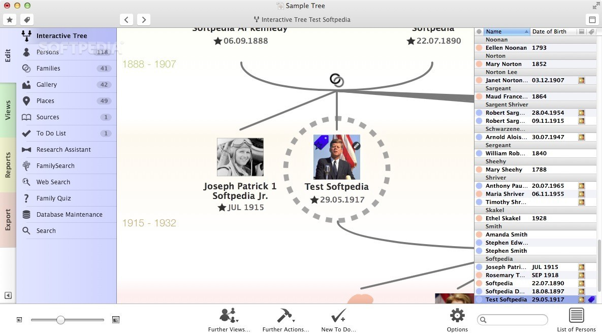 MacFamilyTree screenshot 8