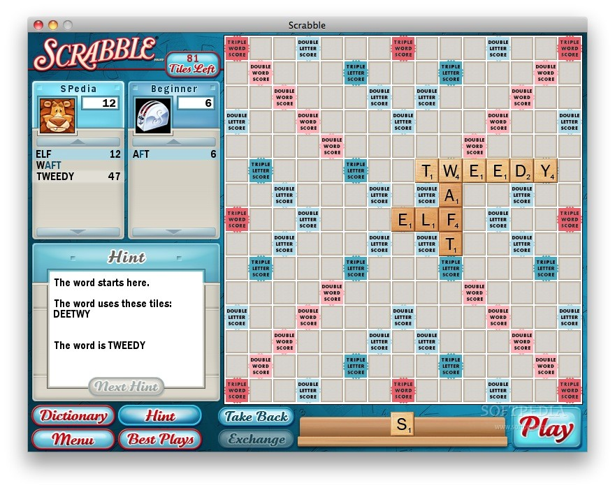 free scrabble game  for macintosh
