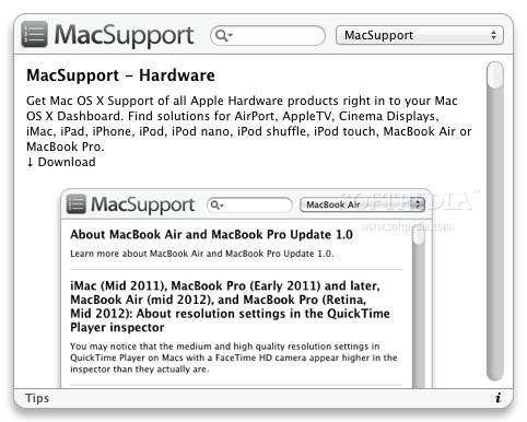 MacSupport - Tips screenshot 1