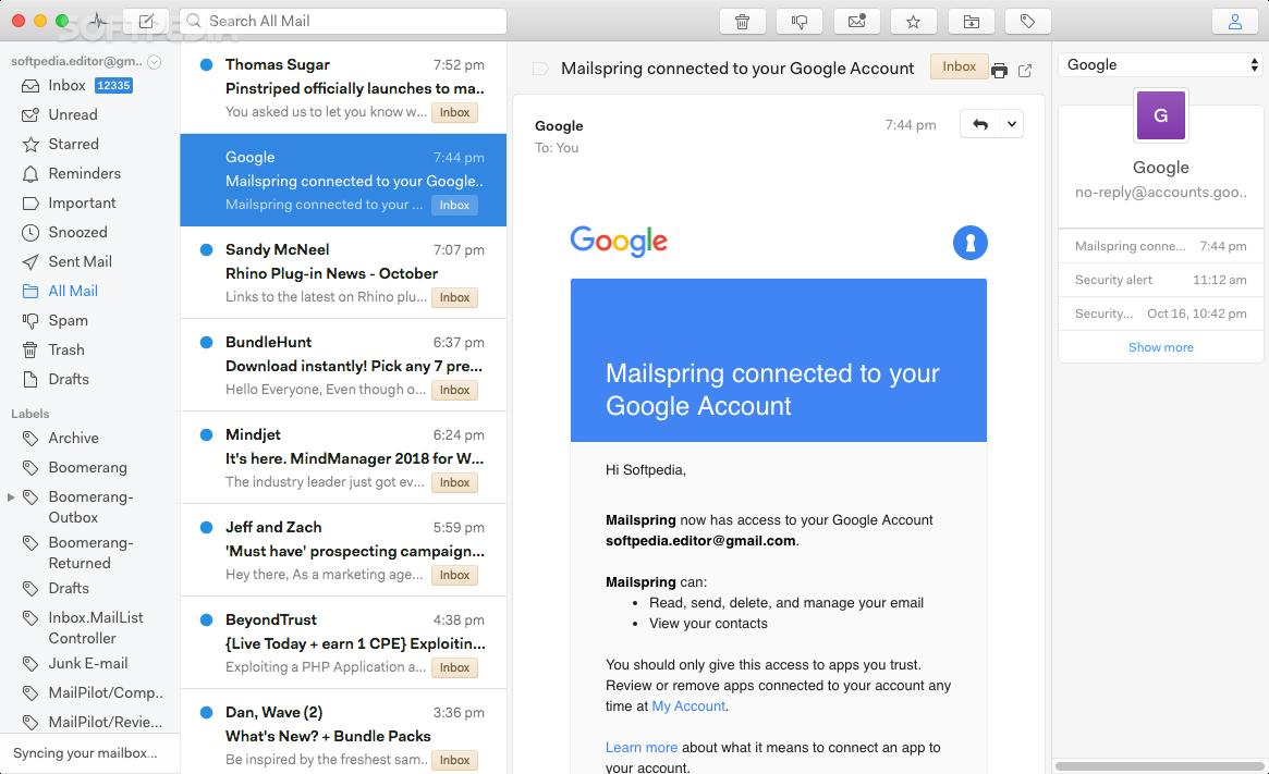 Mailspring Mac 1 6 3 - Download