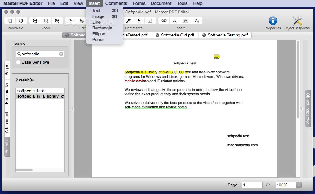 Master PDF Editor Mac 5 4 38 - Download