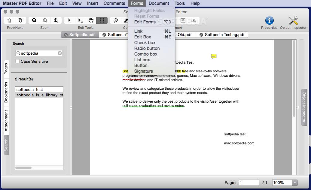 Master PDF Editor Mac 5.6.40 - Download