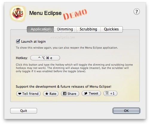 Menu Eclipse screenshot 2