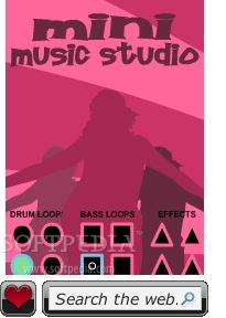 Mini Music Studio screenshot 1 - You will be able to create dance music using 4 drum and bass loops and effects.