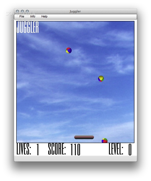 Juggler screenshot 1 - Juggle the balls and make sure to catch all of them.