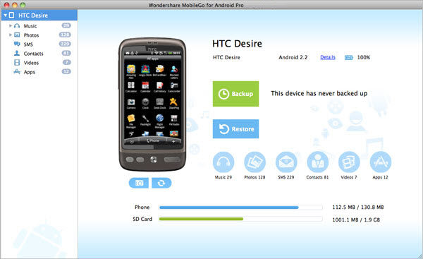 Download Wondershare MobileGo for Android Pro Mac 1.2.0.0