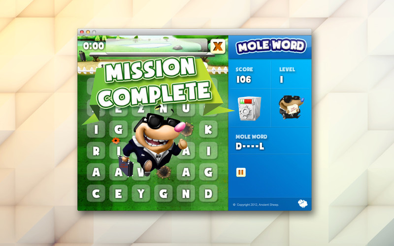 Mole word screenshot 1