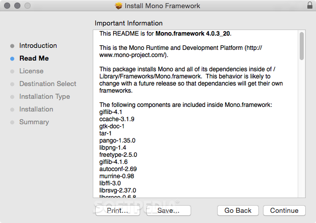 Mono Mac 6 0 0 327 / 6 4 0 192 Preview - Download