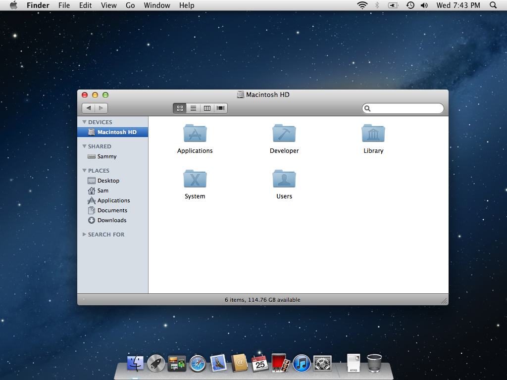 Mountain Lion PowerPC Theme screenshot 1