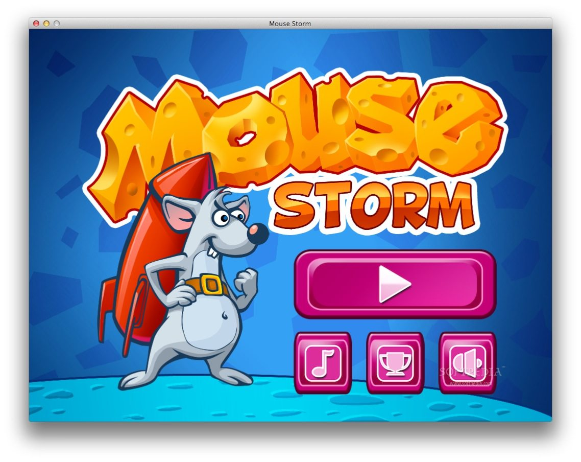 Mouse Storm screenshot 3 - From the main menu you can start a new game or learn how to play.