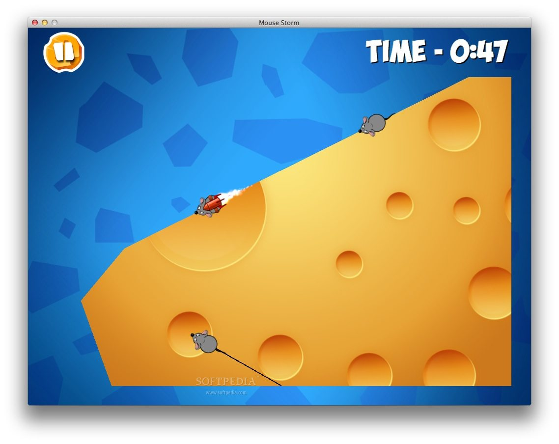 Mouse Storm screenshot 1 - Your objective is to defend the cheese from the attacking mice.