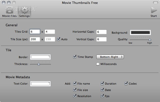 Movie Thumbnails Mac 1 2 0 - Download