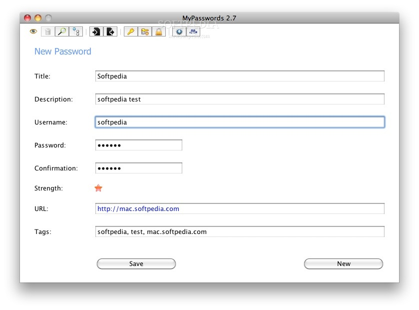 MyPasswords screenshot 1