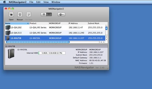 NAS Navigator Mac 2 40 - Download