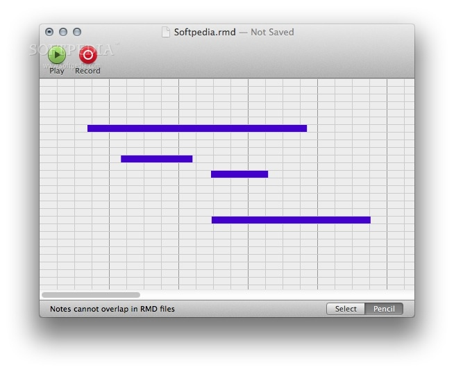 NXT Band screenshot 1 - You will be able to play and record NXT files on your Mac.
