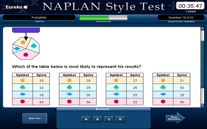 Naplan Style Maths Tests - Year 9 screenshot 4