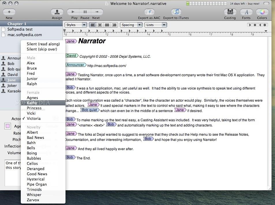 Narrator Mac 2 3 1 - Download