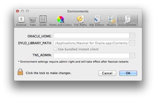 Navicat for Oracle Mac 12 1 24 - Download