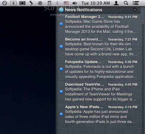 News Notifications screenshot 1