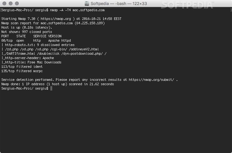 Nmap Mac 7 80 - Download