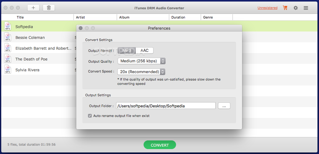 Convert Audio Files to MP3 WAV FLAC AAC