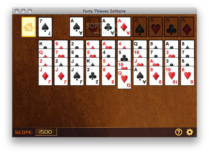 Forty Thieves Solitaire screenshot 1 - This is how you can play a Solitaire game.