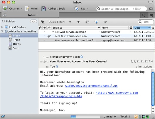 NuevaSync Push Email Synchronization screenshot 1