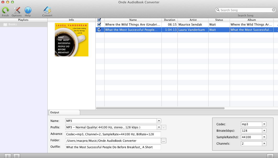 Onde AudioBook Converter screenshot 1