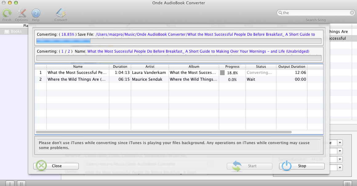 Onde AudioBook Converter screenshot 2