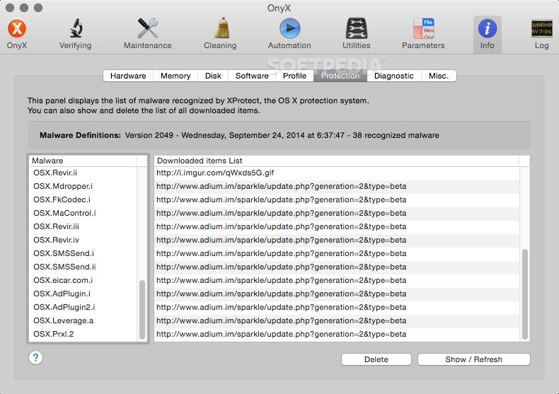 OnyX Mac 3 6 7 - Download