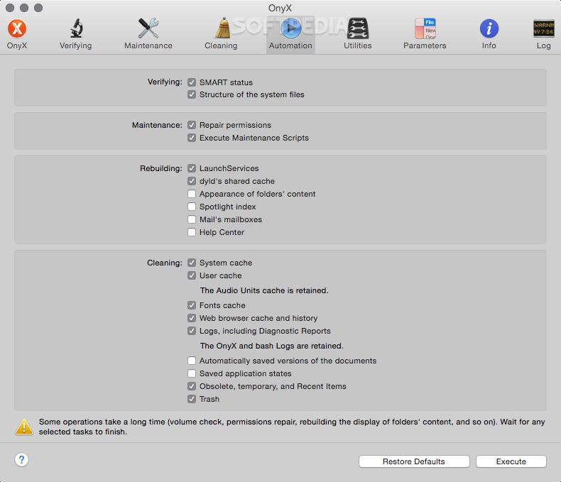 onyx pour mac 10.10.5