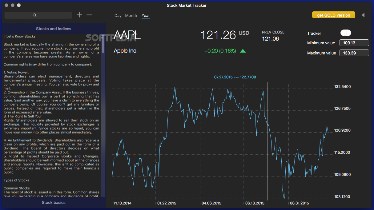 download stock market tracker gold mac 1 0