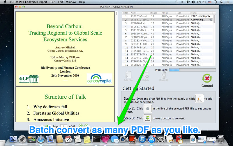 PDF to PPT Expert screenshot 1 - Allows you to quickly batch convert PDFs.