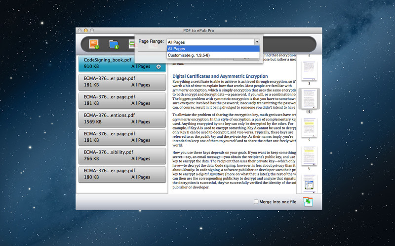 PDF to ePub Pro screenshot 1