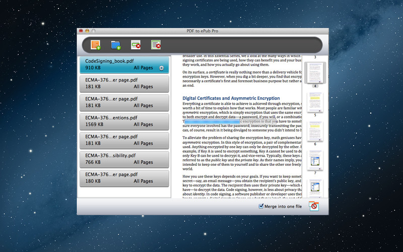 PDF to ePub Pro screenshot 3