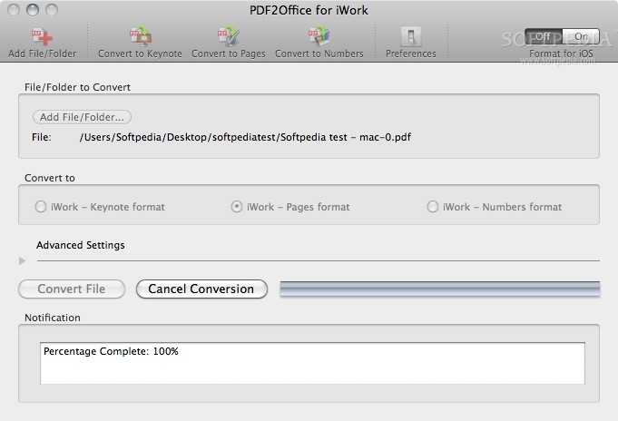 PDF2Office for iWork Mac 2 0 - Download