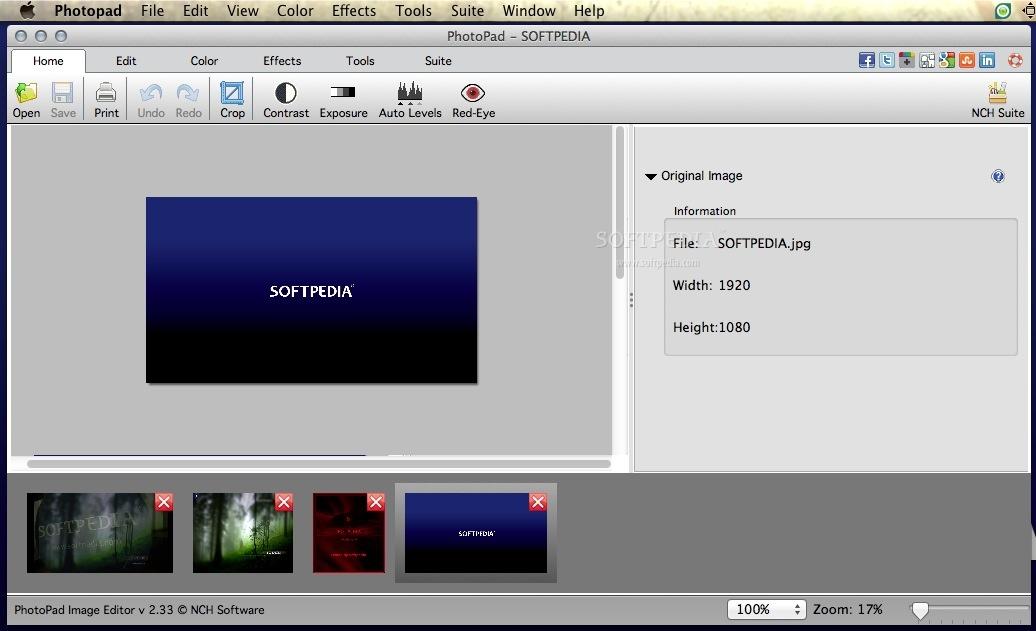 PhotoPad Photo and Image Editor Mac 5 22 - Download