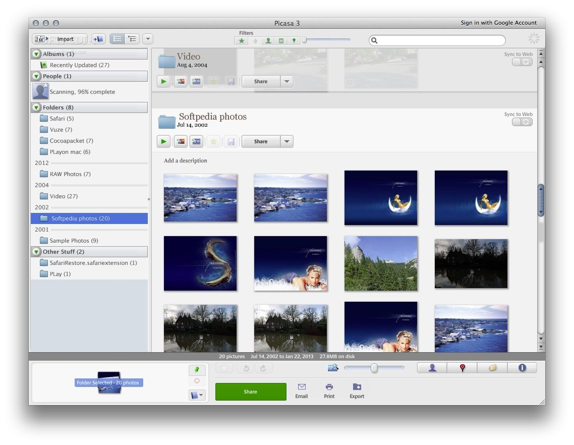 Picasa Mac 3 9 141 306 - Download