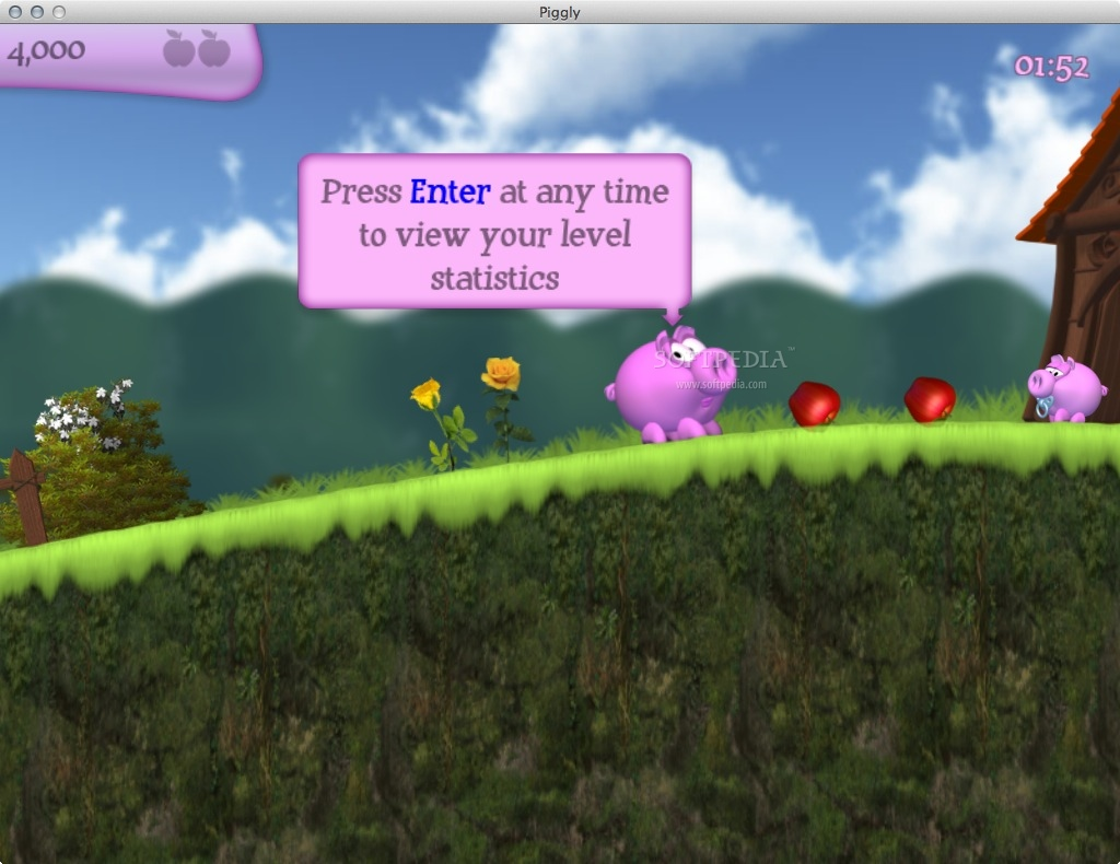 Piggly screenshot 1 - The main menu of the game.