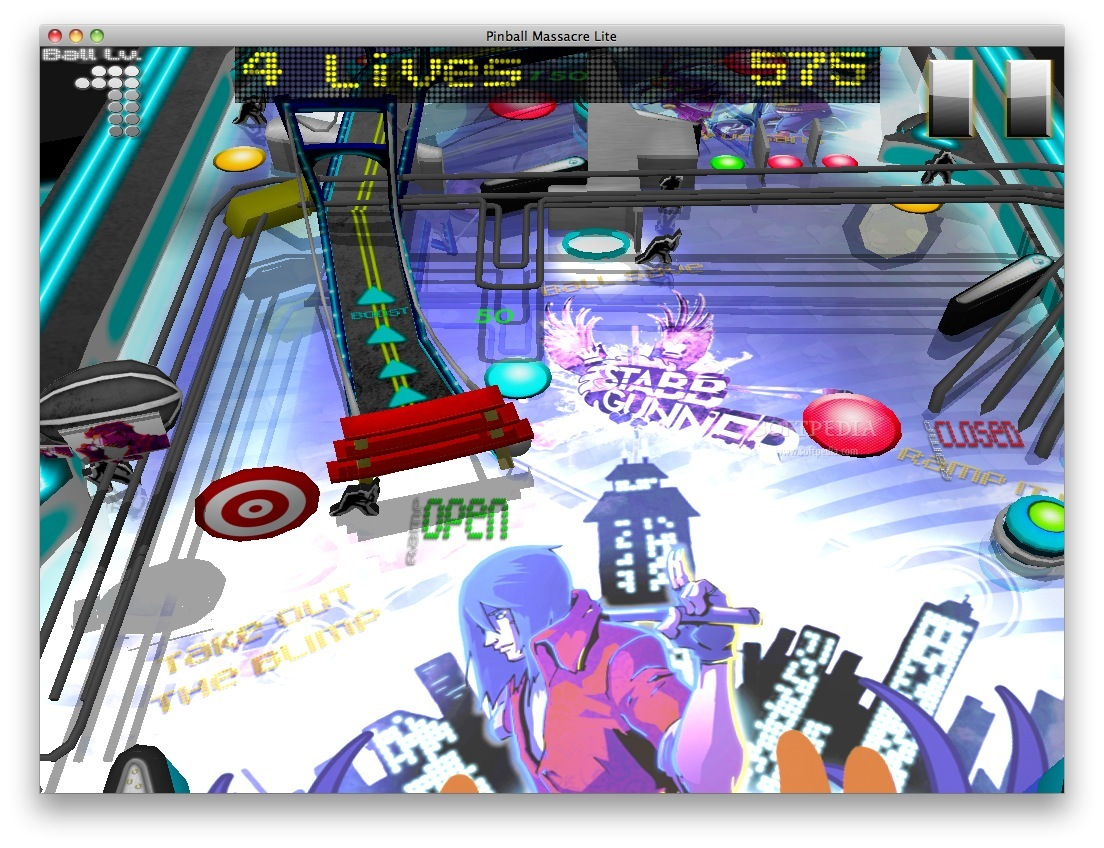 Pinball Massacre screenshot 1 - The beginning of the game.
