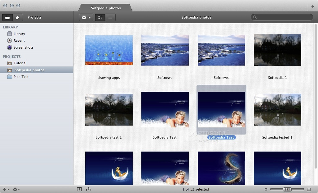 Pixa screenshot 1 - Here you can view images and organize your library.