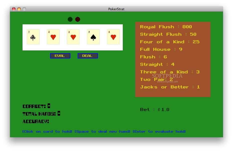 PokerStrat screenshot 1 - Here you can visualize statistics for the poker game.