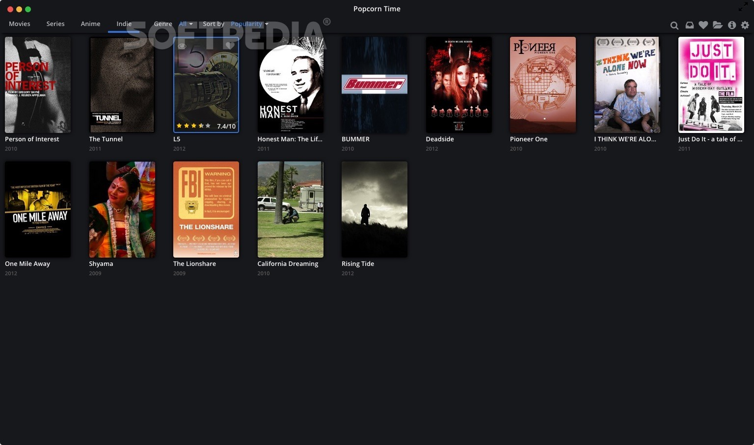 Download Popcorn Time Mac 0.3.10 Beta